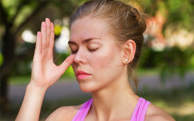 呼吸法でストレス緩和